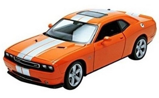 Dodge Challenger Srt Escala 1:24 Welly Naranja