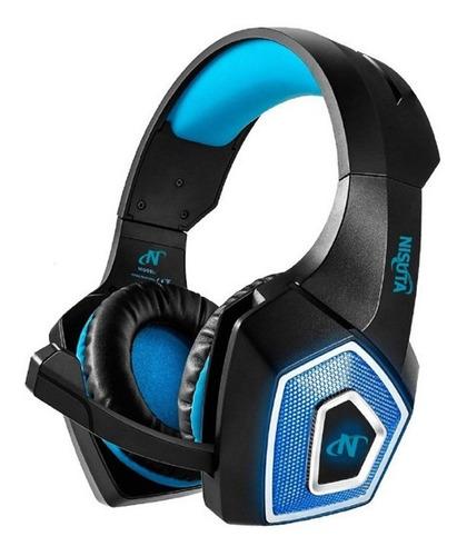 Nisuta Auricular Con Microfono Led Ns-aug350l-bl Azul Cuotas
