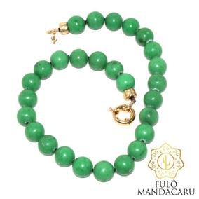 Colar Em Pedras Naturais Jade Verde
