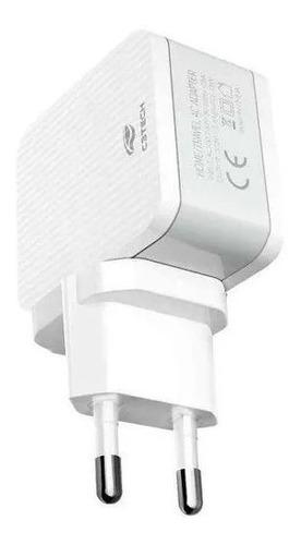 Carregador Ac/usb Universal 2.4 A Uc-215wh C3tech