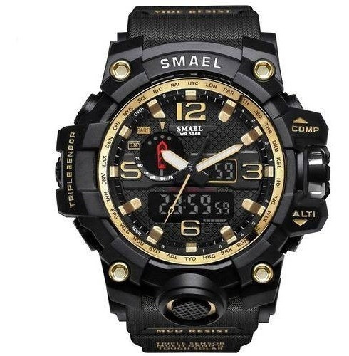 Relógio Masculino Militar S-shock Smael 1545 Prova D`água