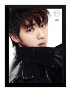 Lindo Quadro Foto Bts Kpop Jin Poster Moldurado