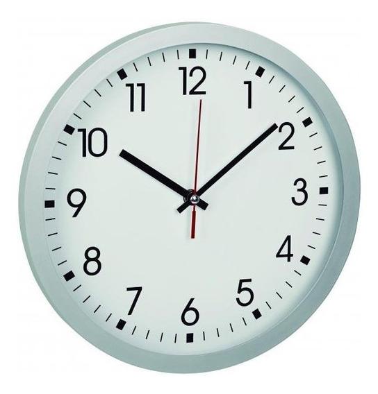 Relógio De Parede Fundo Branco Grande Alemão Tfa
