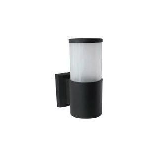 Difusor Unidireccional Pared Strike Aluminio 1 Luz Led Negro
