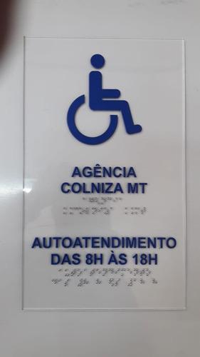 Placa Tátil E Braille Auto Atendimento Em Acrílico