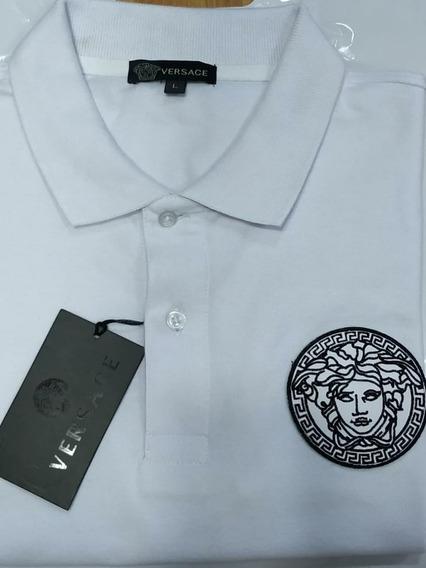 Polo Versace Logo De Cuero Tallas Disponibles