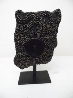 Porta Velas Para Mesa Decorativo De Piedra 21cm Alto L394