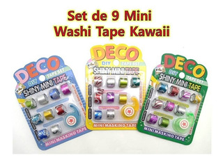 Set Cinta Washi Tape Kawaii Papelería Regalos Scrapbook Cute