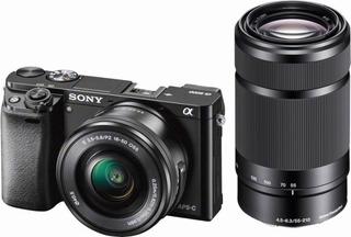 Camara - Sony Sin Espejo Alpha A6000 Lente 16-50 Y 55-210mm