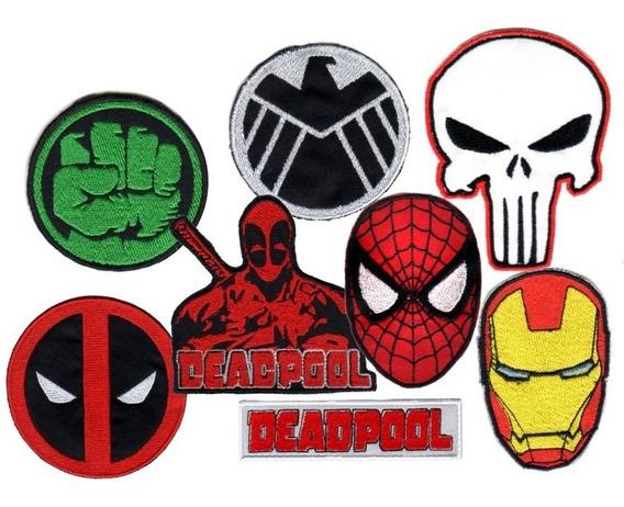 Parche Bordado Hulk Deadpool Iron Man Spiderman Punisher X 1