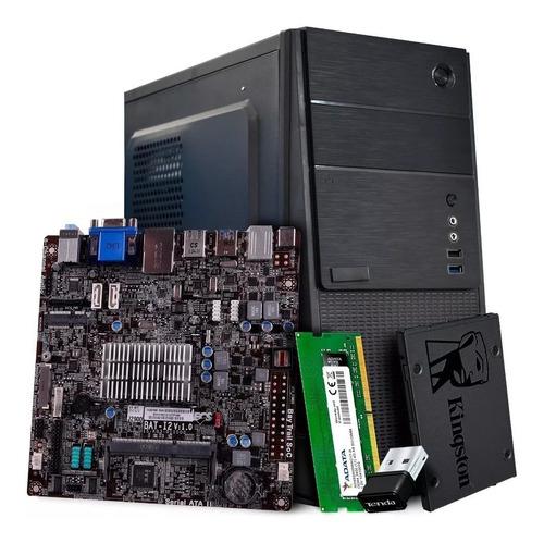Imagen 1 de 9 de Computadora Barata Cpu Intel Celeron/8gb/ssd480/wi-fi Regalo