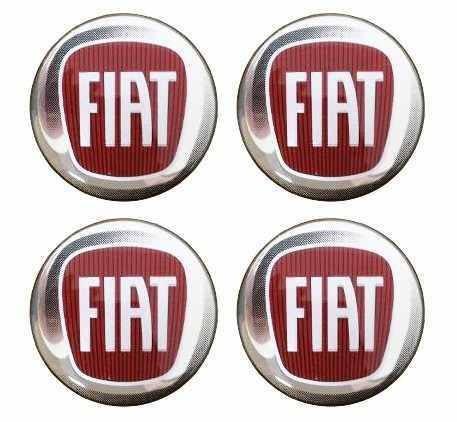 Emblema Resinado Logo Marca Logotipo Fiat P/ Calotas 4 Unids