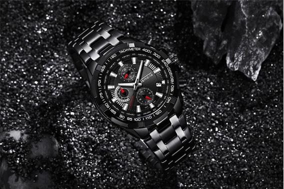 Relógio Temeite Masculino Visor Preto Importado Frete Grátis