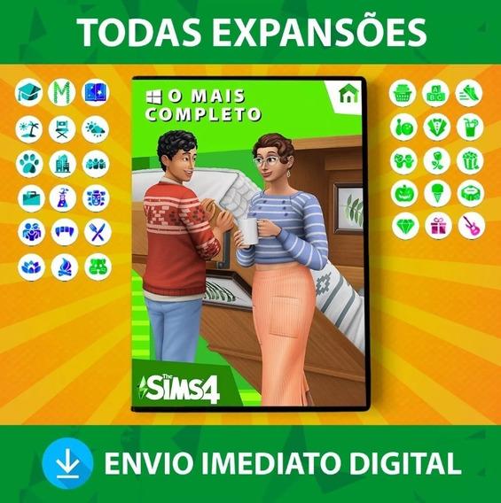 The Sims 4 + Expansões + Objetos Digitais +pacotes