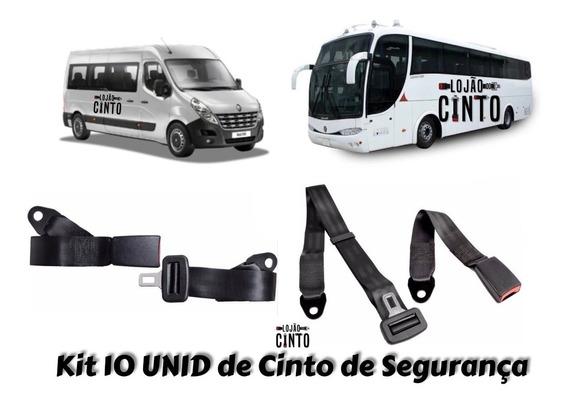Kit 10 Cinto De Segurança Para Ônibus Vans Escolares