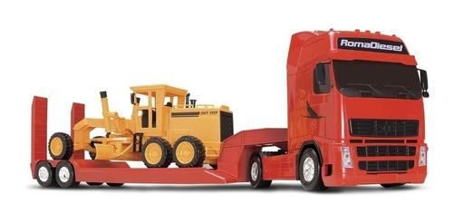 Imagem 1 de 4 de Caminhão Roma Diesel Brinquedo C/ Motoniveladora