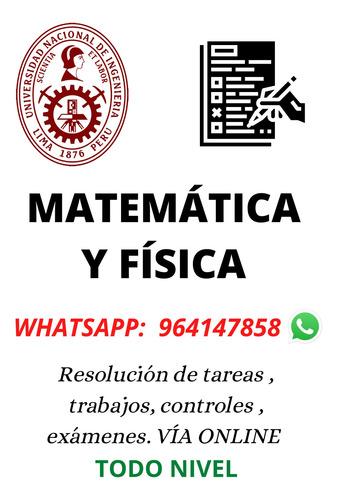 Resolución De Exámenes : Matemática , Física Y Química.