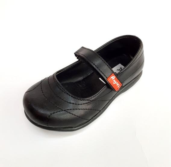 Guillermina Angie Negra Escolar Nena N°21-26 Zapato Balerina