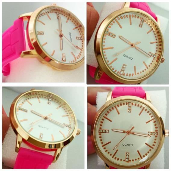 Relógio De Pulso Para Mulher Pink Estiloso Última Moda Lindo