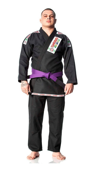 Kimono Jiu Jitsu Trançado Azul Standart Gold Calça Rip Stop