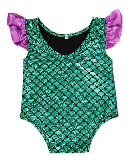 Maio Infantil E Bebe Proteção Solar Uv Princesa Ariel Menina