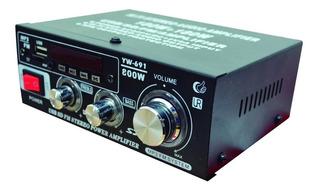Amplificador Mini Usb/sd/fm 200w 2ch