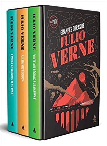 Livro: Grandes Obras De Júlio Verne - Caixa Com 3 Volumes
