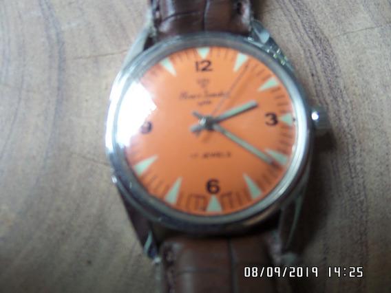 Relógio Henri Sandoz E Fils 17 Jewels A Corda Manual Antigo