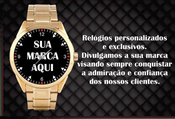 Relógio De Pulso Personalizado Sua Empresa Seu Logo Foto 6