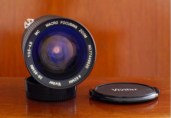 Lente Vivitar Para Nikon 28-85mm 3.5/4.5 Zoom Angular
