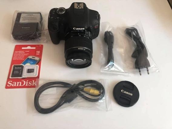 Câmera Canon T3i + Lente 18-55 Is Somente 10mil Click Linda!