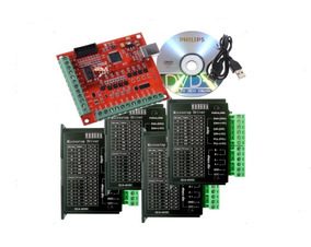 Kit Placa Controladora Mach3 + 4 Drivers Tb6600 4a Dc9-40vdc