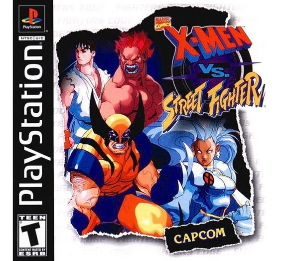 Xmen Vs Street Fighter - Playstation 1 - Frete Gratis.