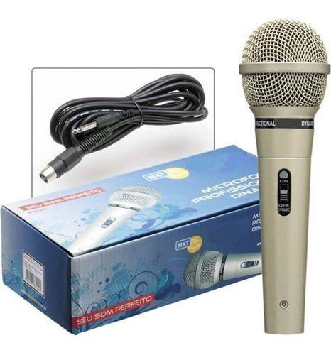 Microfone Mxt Profissional Dinâmico Com Fio M515