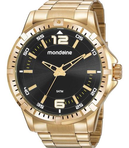 Relógio Masculino Mondaine Dourado 99485gpmvde2