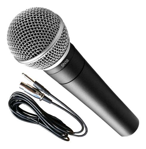 Imagen 1 de 10 de Microfono Dinamico Parquer Sn57b Profesional + Funda Cable