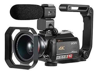 Cámara De Vídeo Ordro Ac5 De 4 K Con Zoom Óptico 12x De 3