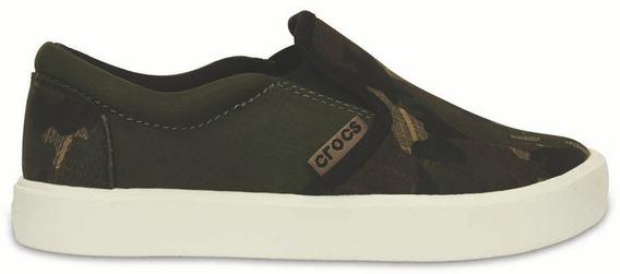 Crocs Originales Citilane Novelty Slip-on Negro Nene Nena