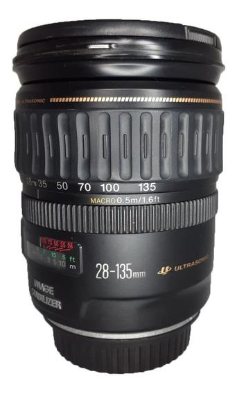 Lente Canon Zoom Ef 28-135mm 1:3.5-5.6 Is Usada Impecável