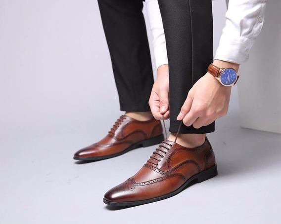 Kit 3 Sapato Masculino Bico Quadrado Cardaço Tradicional