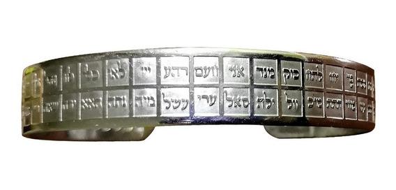 Pulsera De Acero Inoxidable Con 72 Nombres De Dios En Hebreo