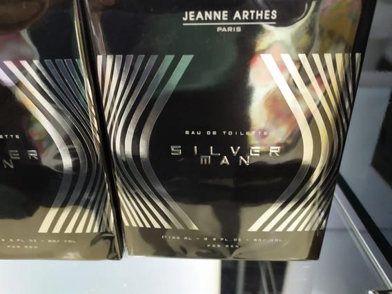 Perfume Silver Man Jeanne Arthes For Men Mas 100ml/original