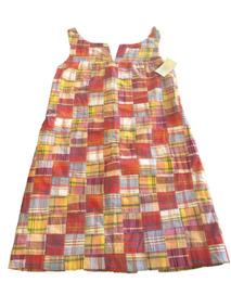 Vestido, J. Crew Pachwork, Multicolor