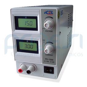 Ps-1500 Fonte De Alimentação Digital Icel 0 A 15v / 0 A 3a