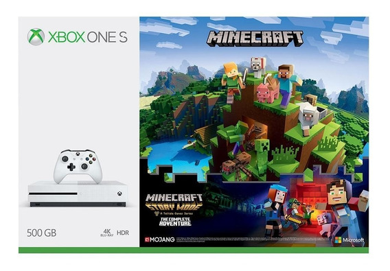 Consola Xbox One S 500gb + Minecraft + 2 Juegos + Live 3 Mes