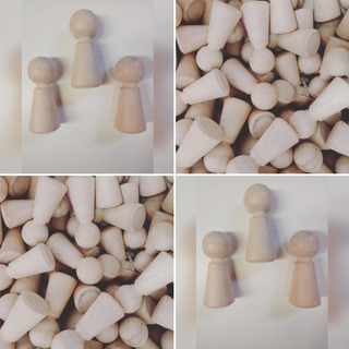 10 Muñecos Madera Peg Dolls En Crudo P/pintar