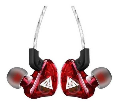 Imagen 1 de 2 de Audífonos in-ear QKZ CK5 rojo