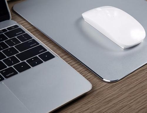Mouse Pad De Aluminio Fina Terminación 17x20cm Mac O Pc ®