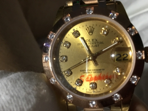 Relógio Rolex, Unissex, Luxo, Pedrinhas, Pulseira Mista