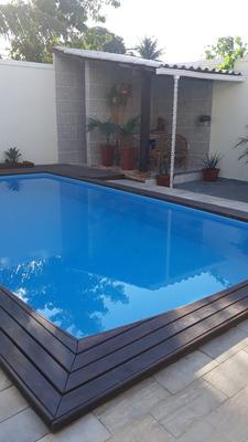 Casa Com Piscina, 02 Quartos 01 Suite 03 Banheiros